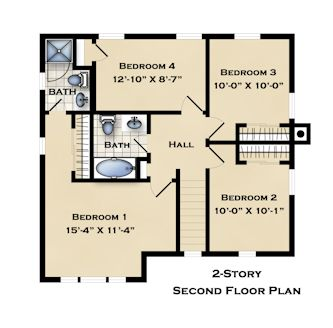 LIHP Islip IX - Colonial 2nd Floor Plan