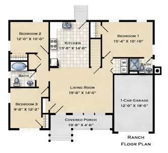 LIHP Islip IX Ranch Floor Plan