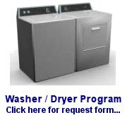 Washer/Dryer Program Request form..